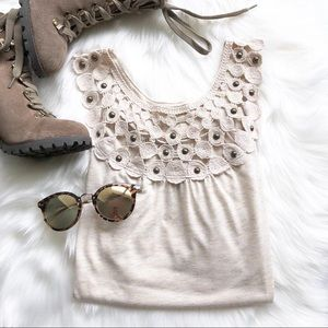 {MUDD} Studded Racerback Top